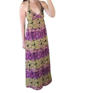 Beautiful Old Navy  Medallion Halter  Maxi Dress